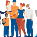 illustration of a group of people talking about advance care planning